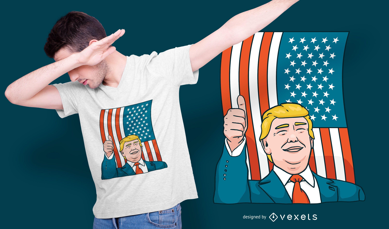 Diseño de camiseta de Donald Trump