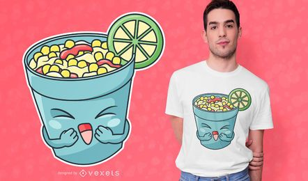 Design feliz do t-shirt do copo de Elote