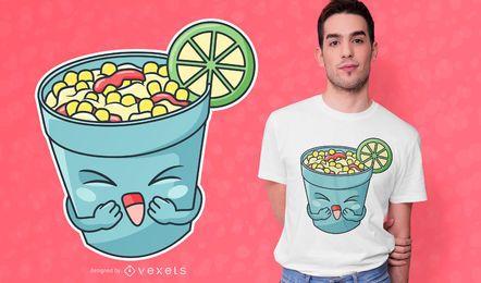 Diseño de camiseta Happy Elote Cup