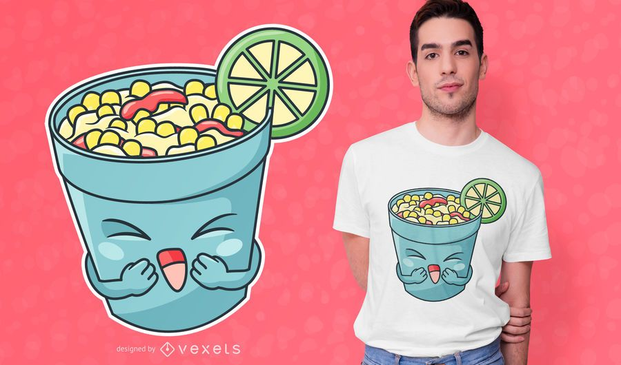 Happy Elote Cup T-shirt Design