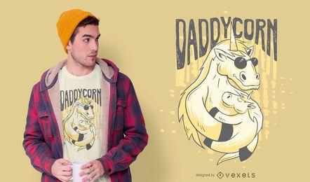 Diseño de camiseta Daddycorn Unicorn
