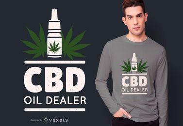 Projeto do t-shirt do óleo de CBD