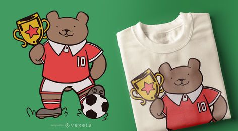 Soccer Bear T-shirt Design