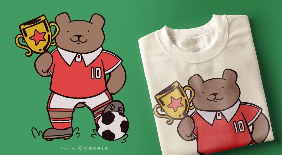 Soccer Bear T-shirt Design