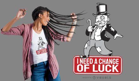 Design de camisetas com citações de paródia do monopólio