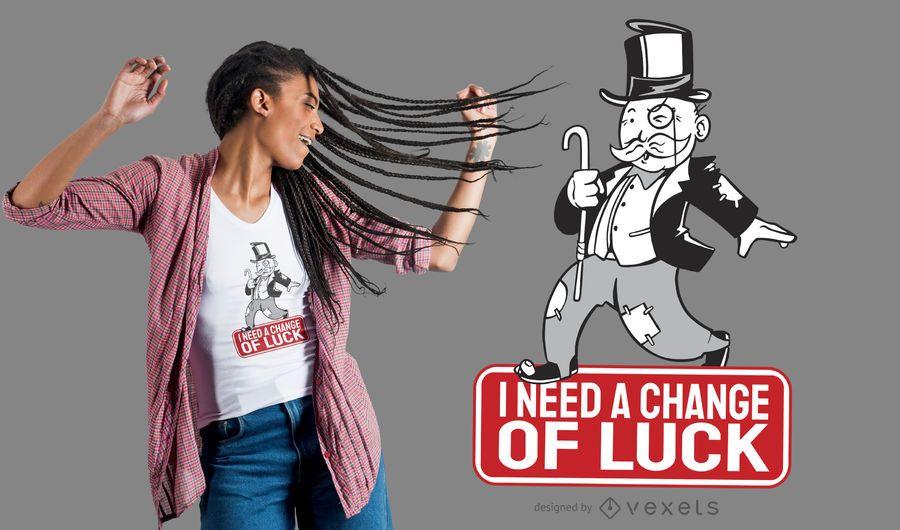Design de t-shirt de citações de paródia de monopólio