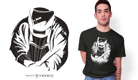 Diseño de camiseta de soldador