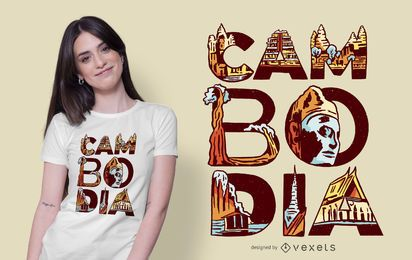 Design de t-shirt do Camboja