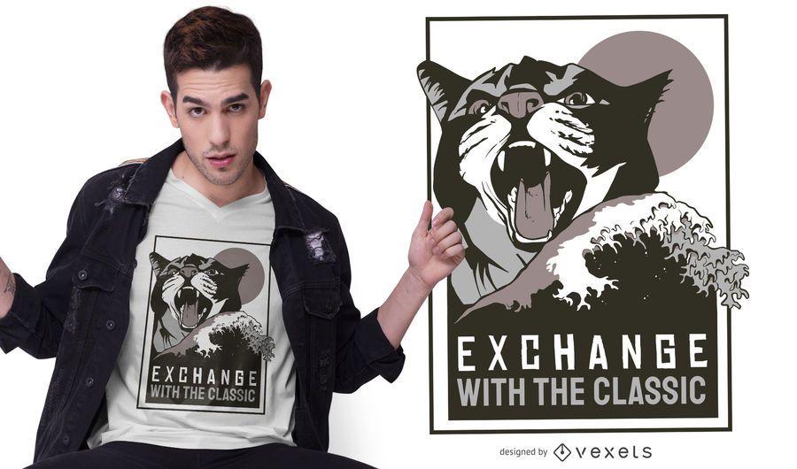 Diseño de camiseta clásica de intercambio