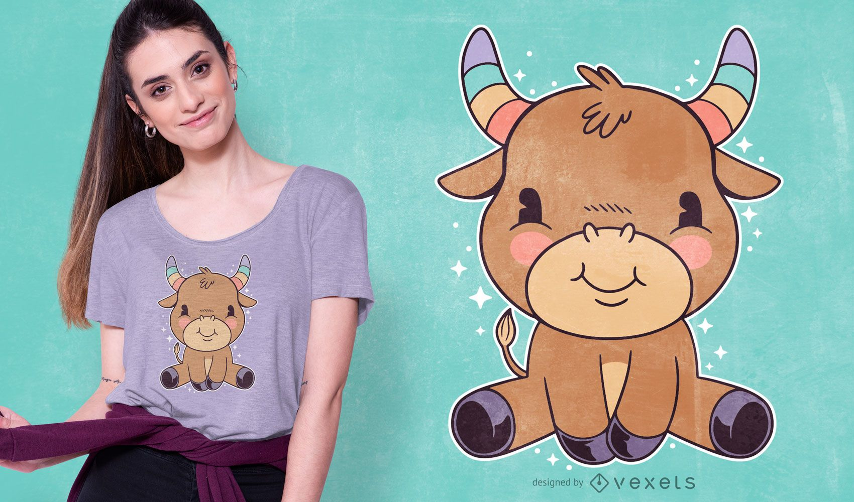Design fofo de camiseta do taurus