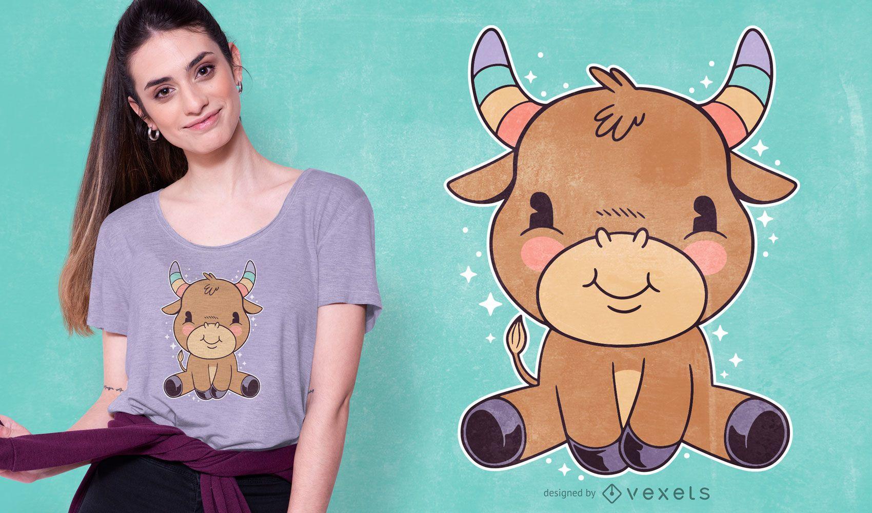 Lindo diseño de camiseta de tauro