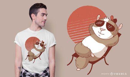 Diseño de camiseta de sol de cuy