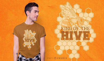 Diseño de camiseta Bee King