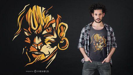 Design de t-shirt de senhor hanuman