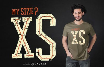 Size xs t-shirt design