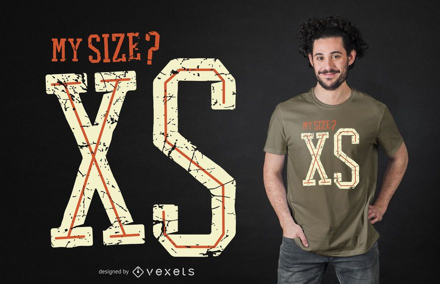Size xs t-shirt design