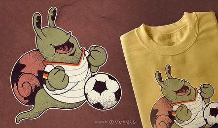 Design de t-shirt de futebol Snail