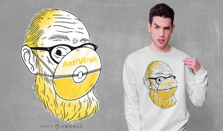 Design de camisetas antivírus