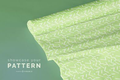 Fabric Roll Mockup Design