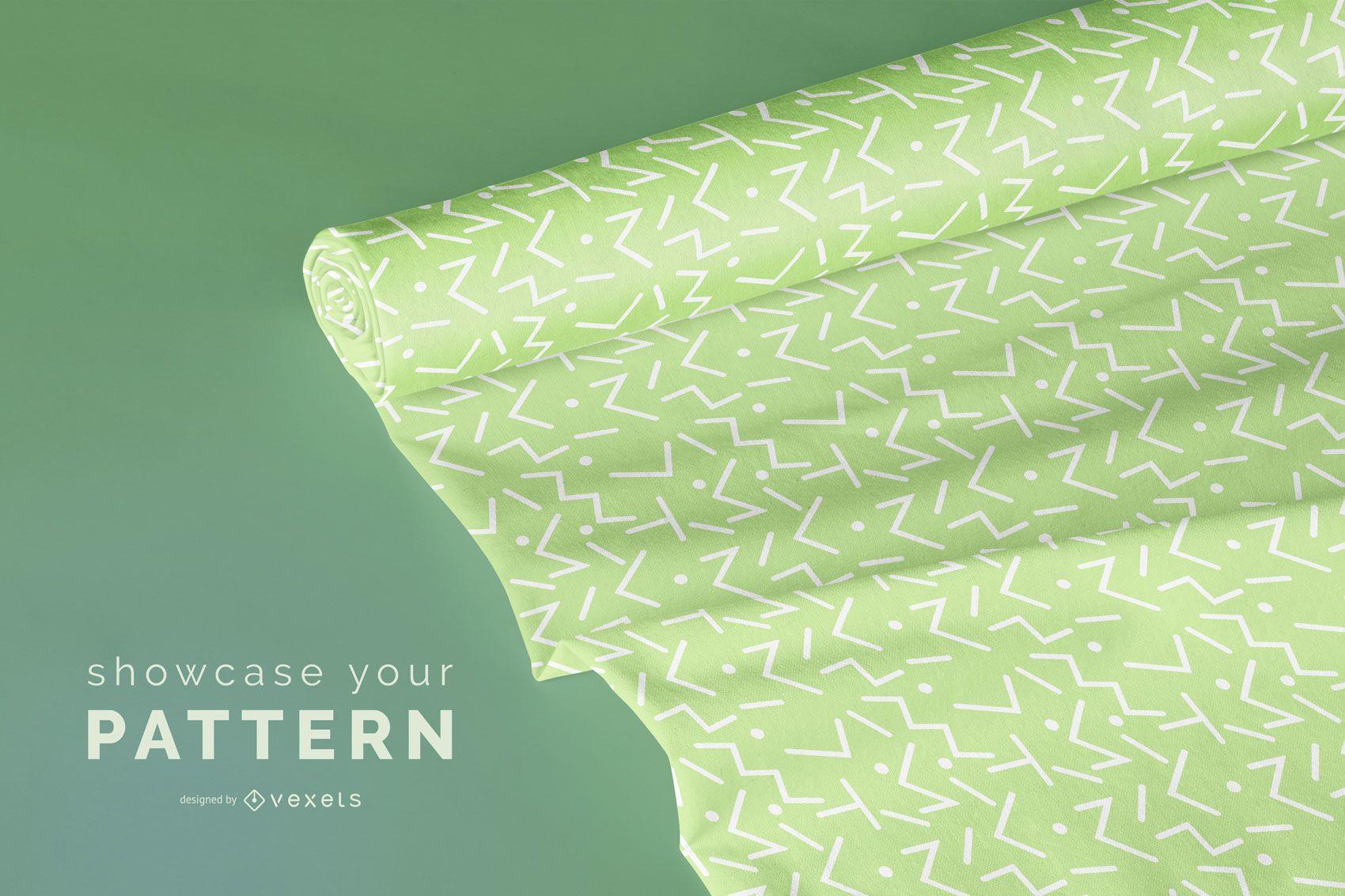Design de maquete de rolo de tecido
