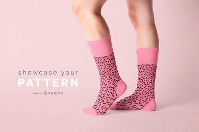 Mockup de produtos de meias padrão