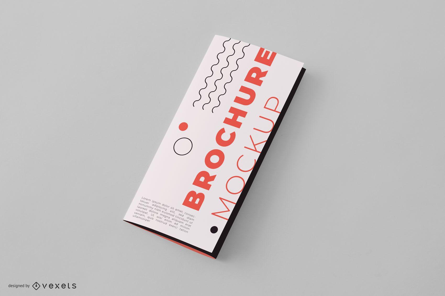 Closed Brochure Mockup Design