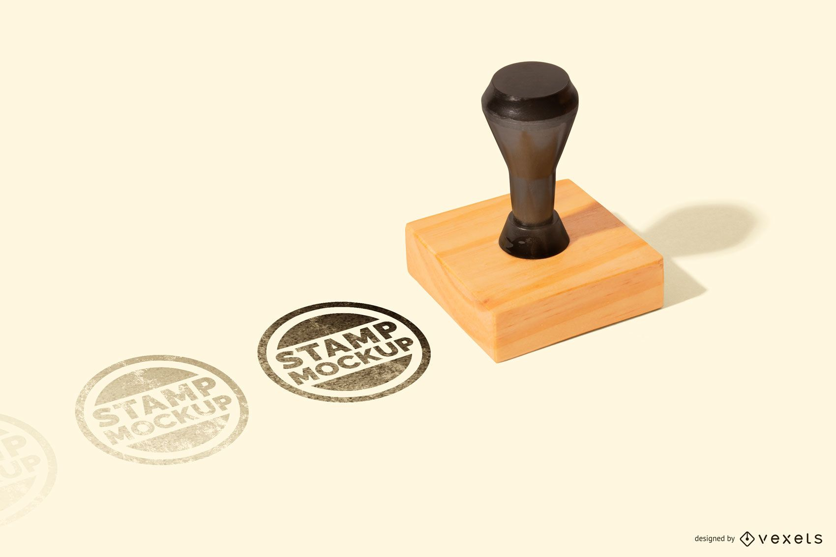 Square Rubber Stamp Mockup