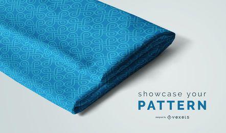 Maquete de tecido dobrado