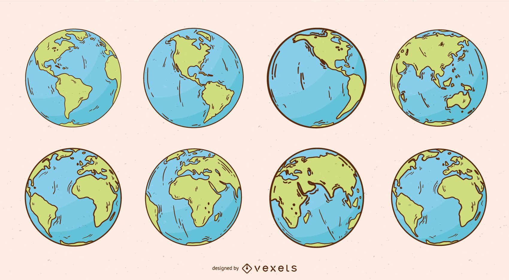 Planet Earth Globe Illustration Pack