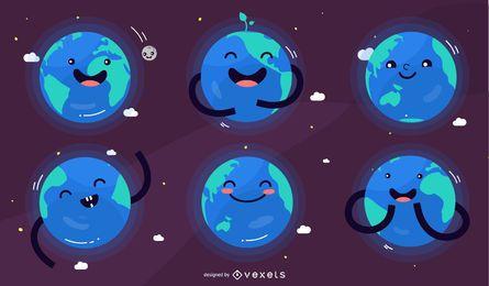 Conjunto de caracteres del planeta tierra