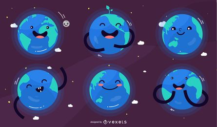 Planet earth character set