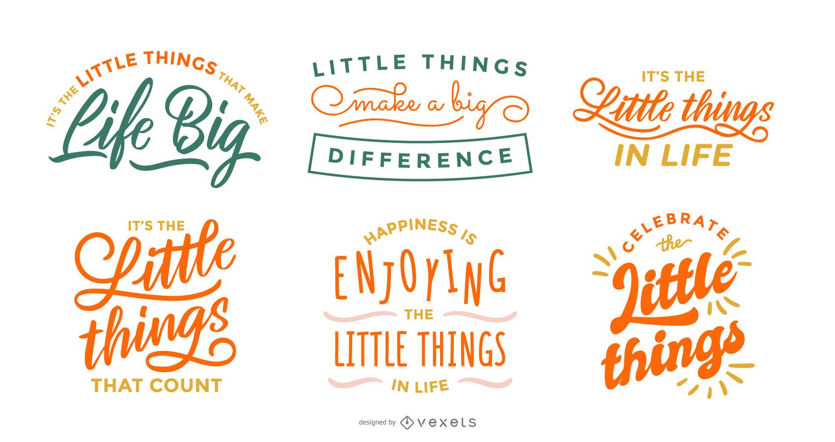 Little things lettering pack