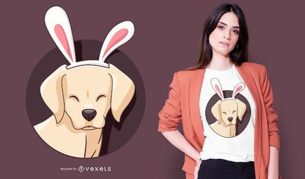 Design de t-shirt de coelho labrador