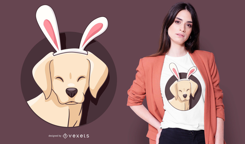 Design de camiseta do coelhinho labrador