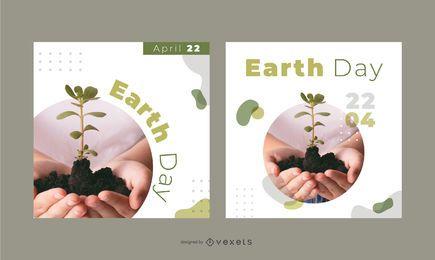 Conjunto de banners del día de la tierra