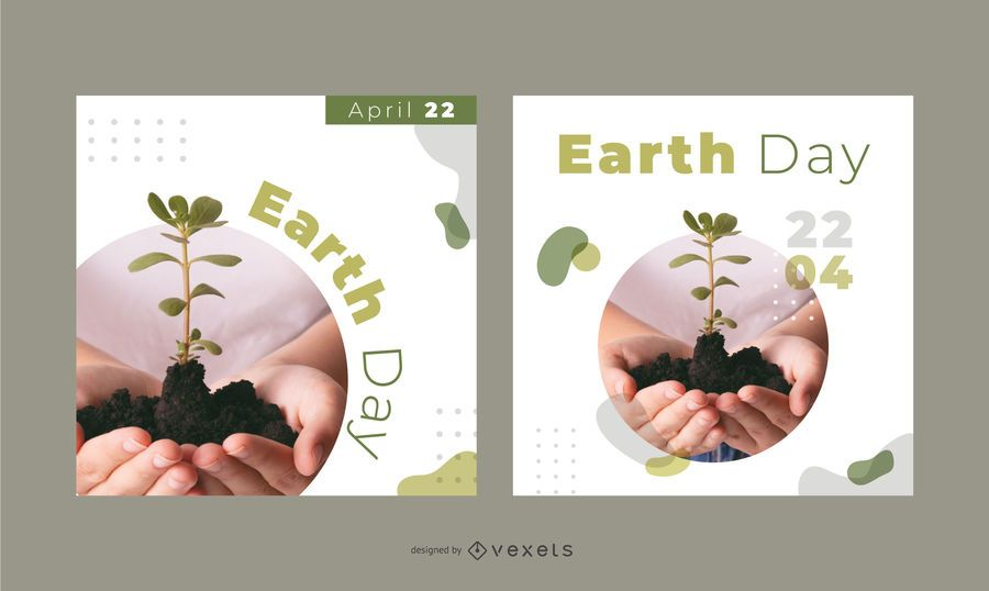 Earth day banner set