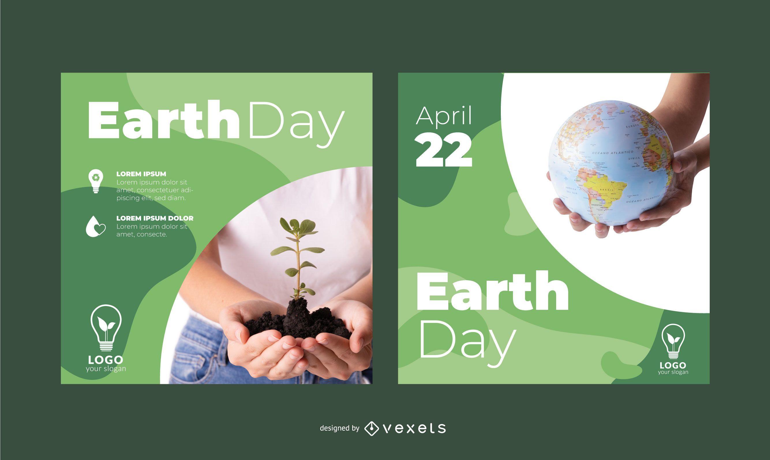 Earth Day Mockup Square Banner Set