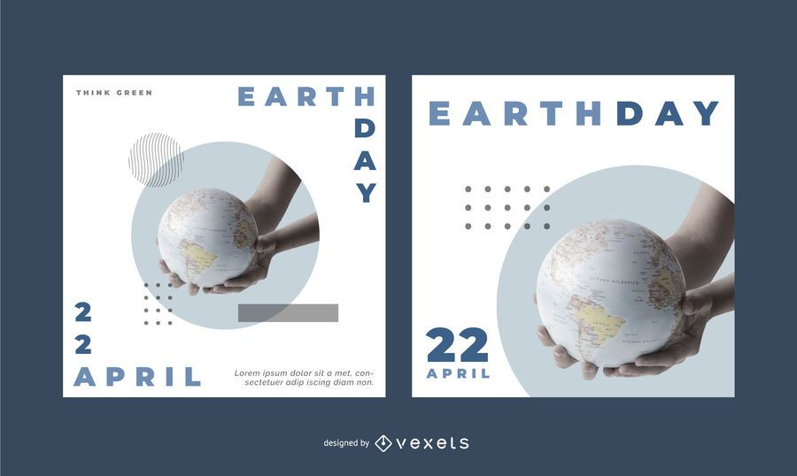 Earth Day Editable Banner Set