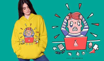 Diseño de camiseta de diseñador estresado