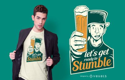 Design de camiseta com citações de cerveja do Dia de São Patrício
