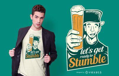 Diseño de camiseta de la cita de la cerveza del día de San Patricio