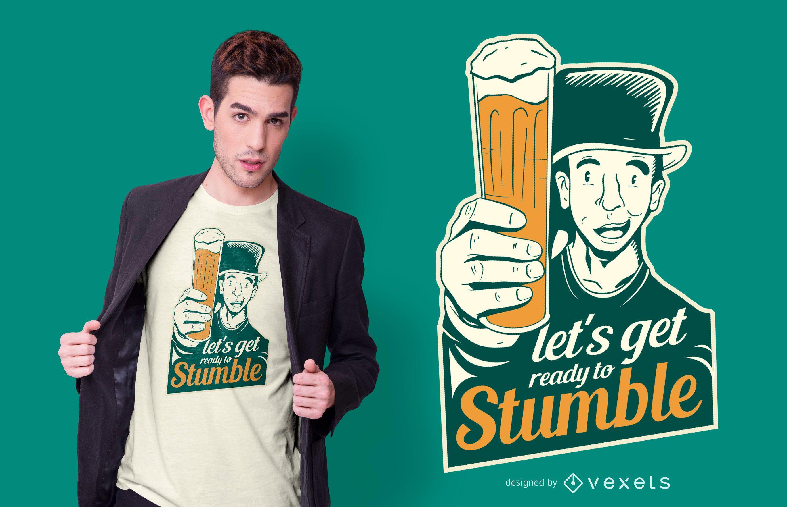 St. Patrick's Day Bier Zitat T-Shirt Design