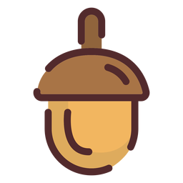 Trazo de icono de bellota