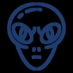 Enojado golpe de cabeza alien