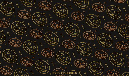 Diseño de patrón de Halloween de Jack o 'Lantern