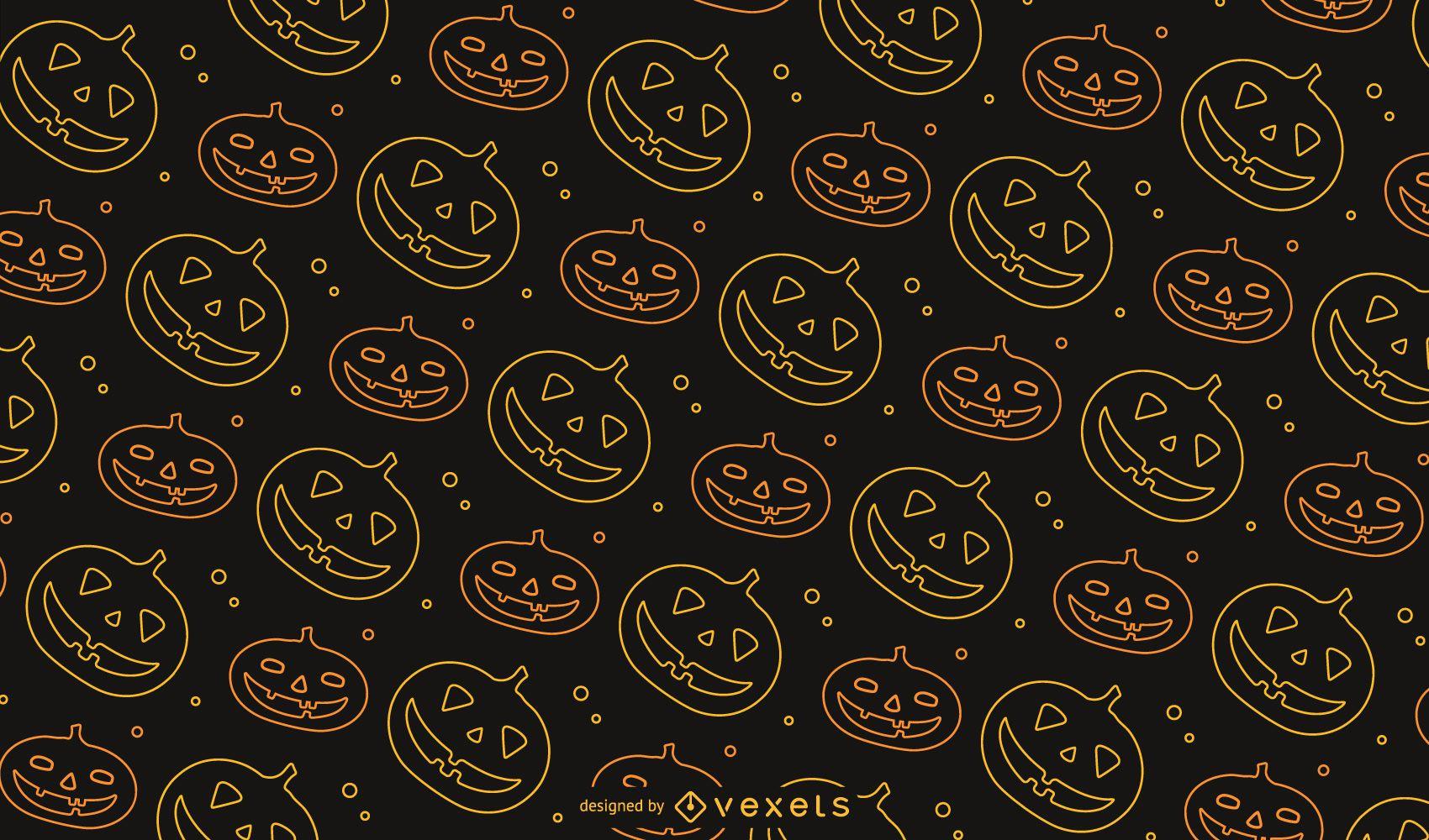 Jack o' Lantern Halloween Pattern Design