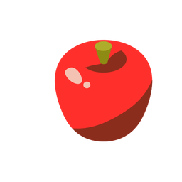 Apple sweet red isometric
