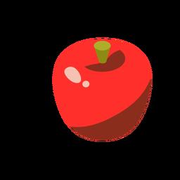 Isométrica roja dulce de manzana
