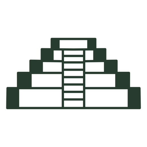 Aztec temple icon stroke
