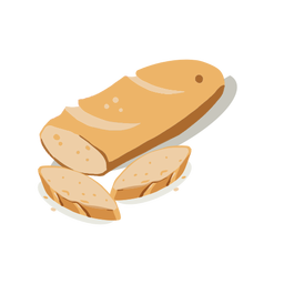 Bread and loaves isometric
